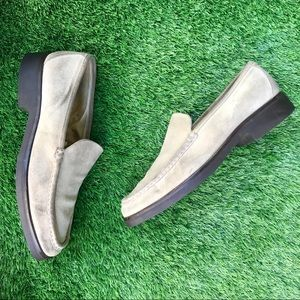 Barney's New York Suede Loafers Size 8
